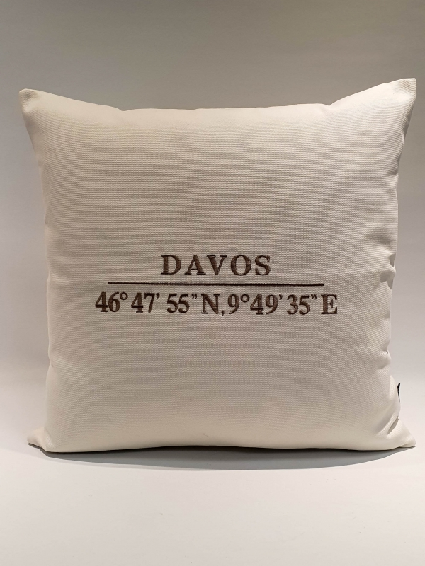 Kissen Davos weiss 55*55