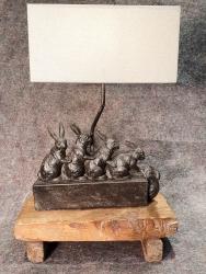 Lampe Hasenfamilie