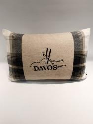 Davos Kissen mit Berg und Ski 40*60